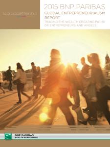 Global entrepreneurialism report