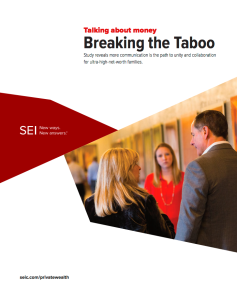 UHNW research study - Breaking the taboo